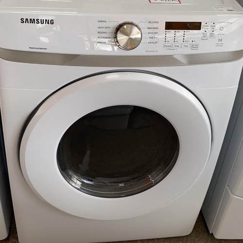 Samsung - 7.5 Cu. Ft. Stackable Electric Dryer with Sensor Dry - White WF45T6000AW