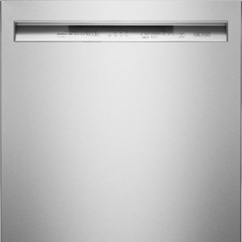 "KitchenAid - 24"" Front Control Tall Tub Built-In Dishwasher with Stainless Steel Tub - Stainless steel"